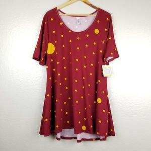NWT LuLaRoe - Perfect T Red With Yellow Polka Dots